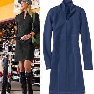 Athleta Cassidy Zip Ponte Dress Size XS Navy